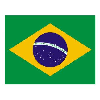 Bandera del Brasil Tarjeta Postal