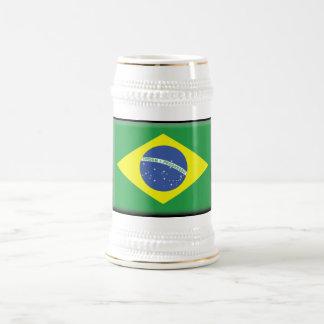 Bandera del Brasil Jarra De Cerveza