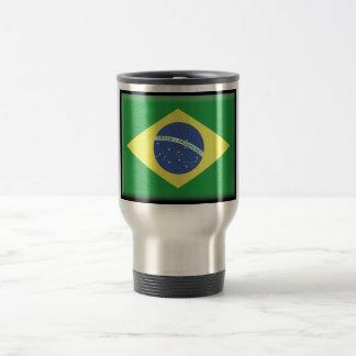 Bandera del Brasil Taza De Viaje De Acero Inoxidable