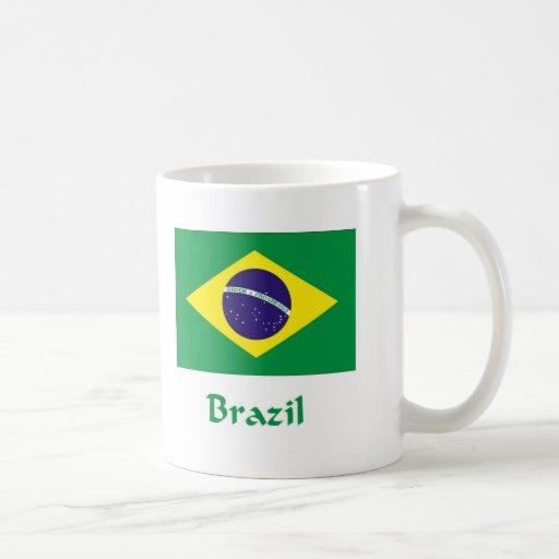 Bandera del Brasil Taza Clásica