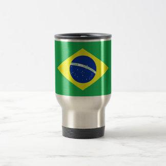 Bandera del Brasil Taza De Viaje