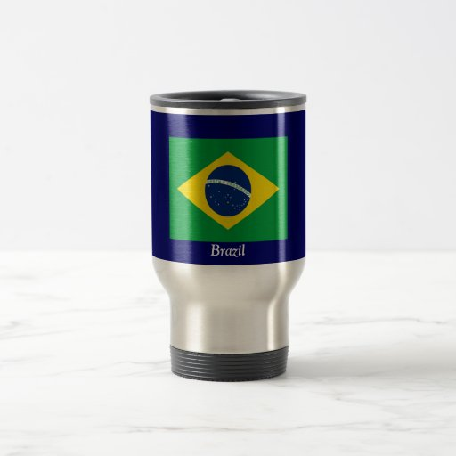 Bandera del Brasil Taza Térmica
