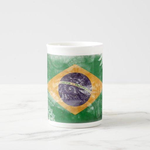 Bandera del Brasil Tazas De China