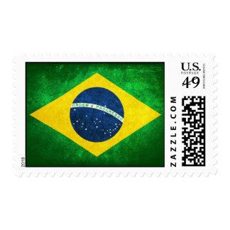 Bandera del Brasil Timbre Postal