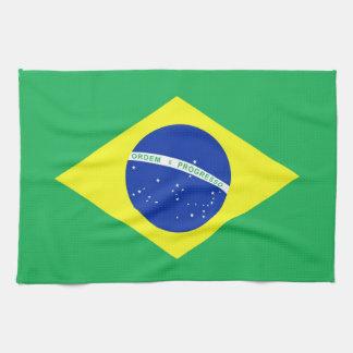 Bandera del Brasil Toalla De Cocina