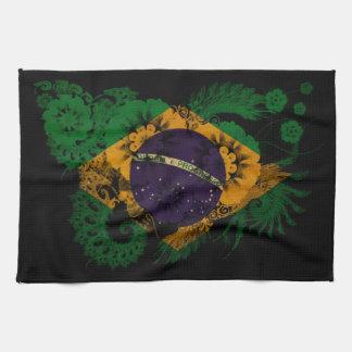 Bandera del Brasil Toallas De Mano