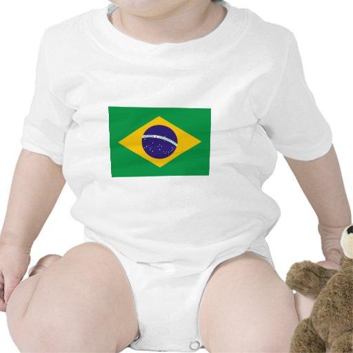 Bandera del Brasil Traje De Bebé
