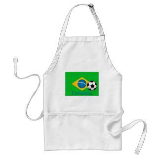 Bandera del brasilen@o de Fortaleza Delantal