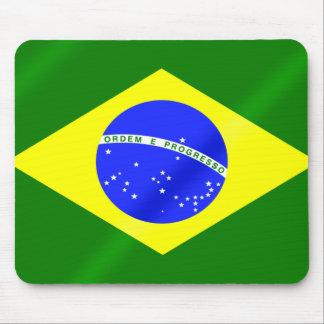 Bandera del brasilen@o de los juegos del verano de alfombrillas de ratones