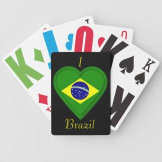 Bandera del brasilen@o del Brasil Baraja De Cartas