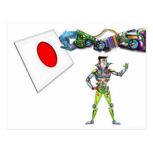 Bandera del brazo mecánico de Japón Postales