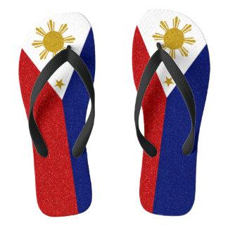Bandera del brillo de Filipinas, correas anchas Chanclas