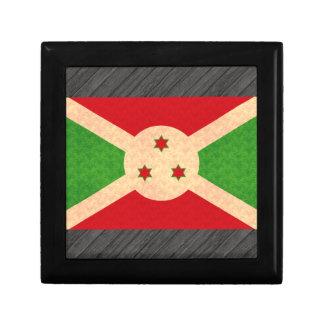 Bandera del Burundian del modelo del vintage Caja De Recuerdo