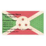 Bandera del Burundian del modelo del vintage Tarjetas De Visita