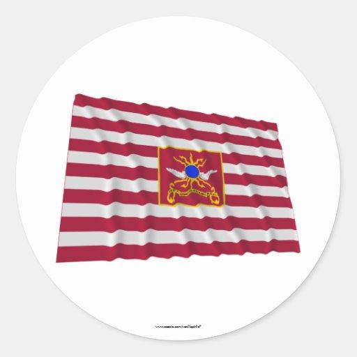Bandera del caballo de Sheldon Pegatina Redonda