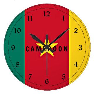 Bandera del Camerún Reloj Redondo Grande