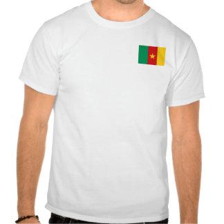 Bandera del Camerún y camiseta del mapa