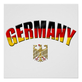 Bandera del camisetas y de los regalos alemanes de póster