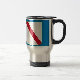 Bandera del Campania (Italia) Tazas De Café