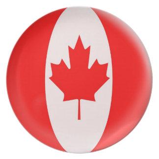 bandera del canadiense de Canadá de la placa de 10 Plato Para Fiesta