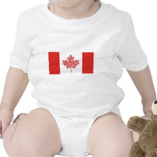 Bandera del canadiense de la hoja de arce de trajes de bebé