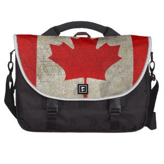 Bandera del canadiense de la hoja de arce del vint bolsa para ordenador