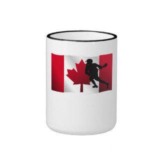 Bandera del canadiense de LaCrosse Taza De Café