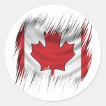 Bandera del canadiense de las trituradoras pegatinas