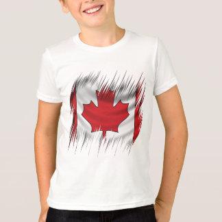 Bandera del canadiense de las trituradoras remera