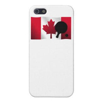 Bandera del canadiense de los tenis de mesa iPhone 5 protector