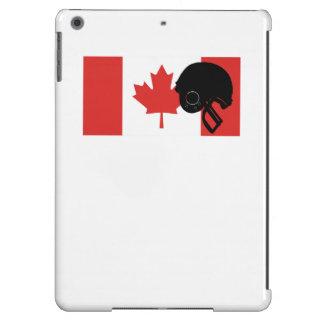 Bandera del canadiense del casco de fútbol funda para iPad air