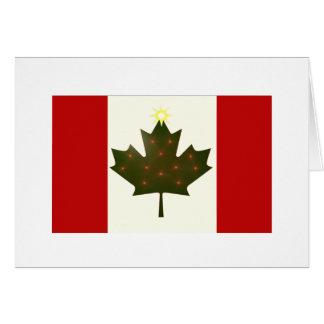 Bandera del canadiense del día de fiesta tarjeta de felicitación