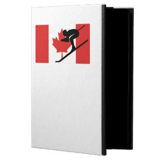 Bandera del canadiense del esquiador