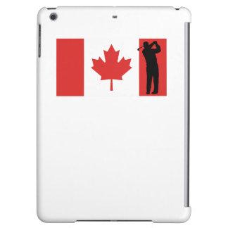 Bandera del canadiense del golfista
