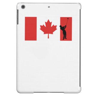 Bandera del canadiense del golfista funda para iPad air