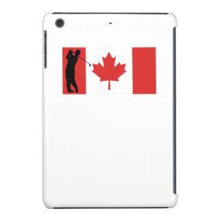 Bandera del canadiense del golfista funda para iPad mini retina