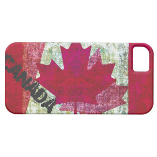 bandera del canadiense del grunge iPhone 5 protector