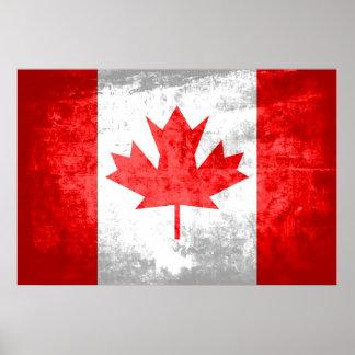 Bandera del canadiense del Grunge Impresiones
