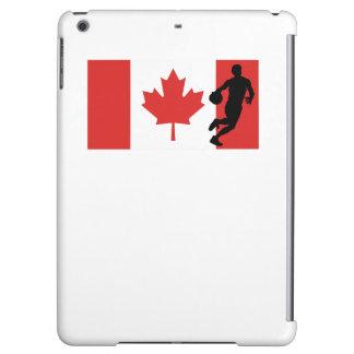 Bandera del canadiense del jugador de básquet