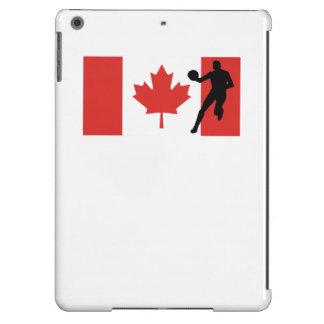 Bandera del canadiense del jugador de básquet funda para iPad air