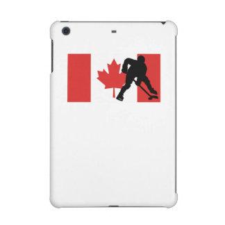 Bandera del canadiense del jugador de hockey