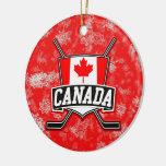 Bandera del canadiense del ornamento del árbol de adornos