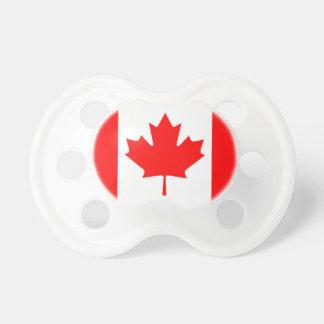 Bandera del canadiense del pacificador del bebé chupetes para bebés