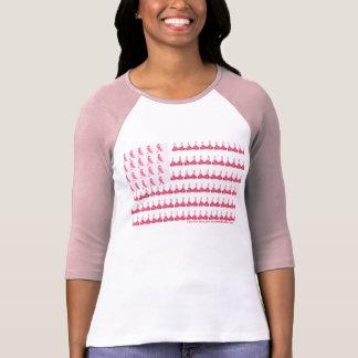 Bandera del cáncer de pecho camiseta