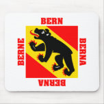 Bandera del cantón de Berna Suiza Alfombrillas De Raton