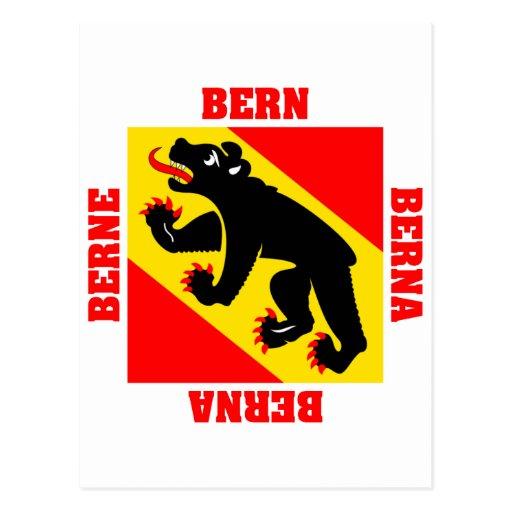 Bandera del cantón de Berna Suiza Tarjetas Postales