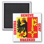 Bandera del cantón de Ginebra Suiza Imán De Nevera