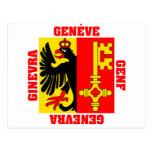 Bandera del cantón de Ginebra Suiza Postal