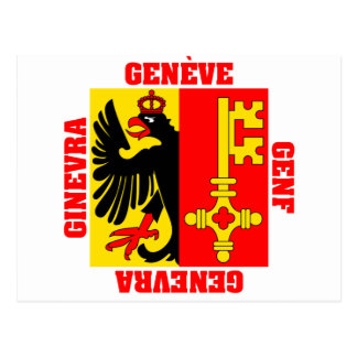 Bandera del cantón de Ginebra Suiza Tarjetas Postales