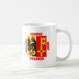 Bandera del cantón de Ginebra Suiza Tazas De Café